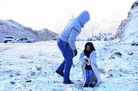 Blanket of snow covers Saudi Arabia mountains